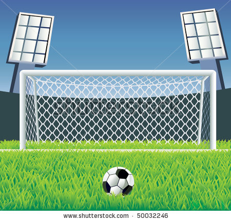 grass soccer field with goal. Modren Goal Stockvectorsoccerfieldwithdetailedgoalandgrass Vectorillustration50032246 With Grass Soccer Field Goal G